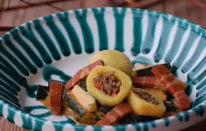 Linsenknödel Zucchiniragout Veggiespeck (18) web b